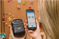 M110 mini portable bluetooth printer makes the boutique display staggered and orderly